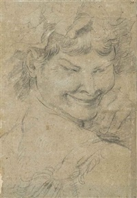 head of the young bacchus by annibale carracci