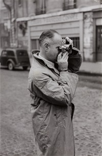 henri cartier-bresson with leica, paris by kryn taconis