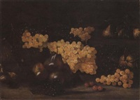 natura morta con uva e pere by aniello ascione