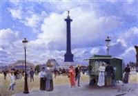 place de la bastille by girard
