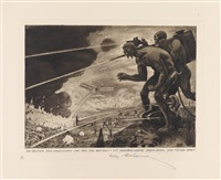 der weltkrieg. ein totentanz (portfolio of 15) by ludwig hesshaimer