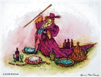 prince with lavish foods (bk illus. for cinderella) by benito (beni) montresor