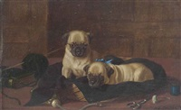 the seamstresses' pugs by horatio henry couldery