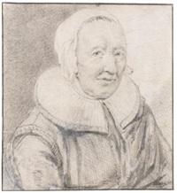 portrait of engeltje pietersdr kort-leve by cornelis visscher