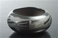 san ildefonso blackware pottery bowl by maria and julian martinez