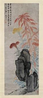 秋艳图 by shen zhou