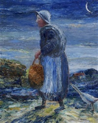 the goose woman returning from market by marshall c. hutson
