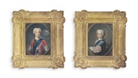 prince charles edward stuart (1720-1788), known as bonnie prince charlie or the young pretender; henry benedict stuart, cardinal york (1725-1807) (pair) by antonio david