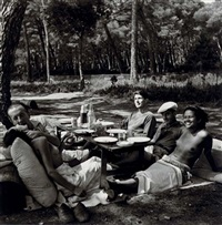 picnic, mougins by lee miller