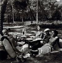 picnic, mougins by lee miller
