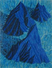 montagna blue n°2 by alberto di fabio
