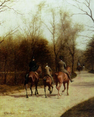 an afternoon ride bois de boulogne by edmond georges grandjean