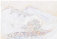 bergpartie im nebel by albert trachsel