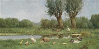 enten am bachufer by david adolf constant artz