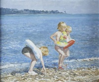 beachtime fun by norman hepple