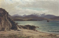 arran, from torrisdale, kintyre by john james bannatyne