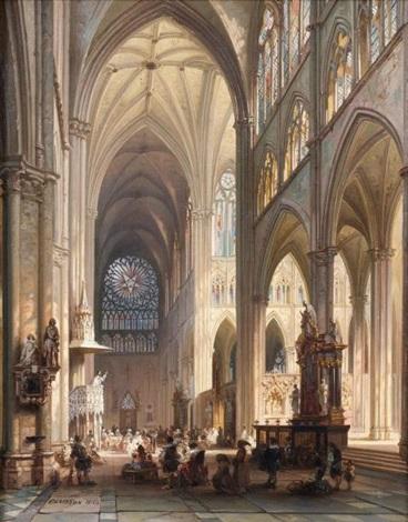 prêche dans la cathédrale damiens by jules victor genisson