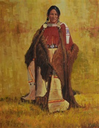 portrait of a native american woman by john demott