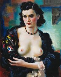 portrét mladé herečky by frantisek naske