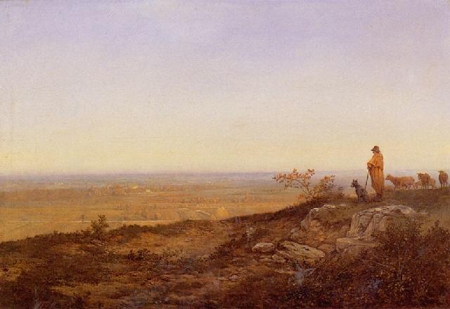 berger devant la plaine aux environs de beauvais by jean jean cornu