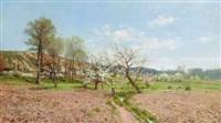 promenade under the apple blossoms by paulin andre bertrand