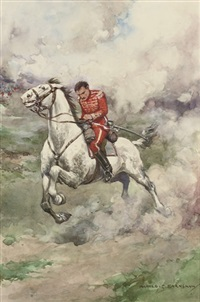 illustrations to the red hussar including (7 works) by harold c. earnshaw