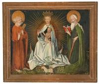 madonna mit kind und zwei stehenden heiligen by german school (16)