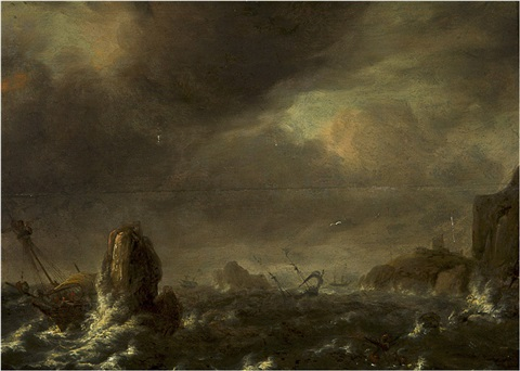 shipwrecked by bonaventura peeters the elder