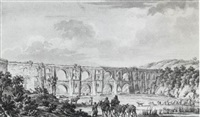 vue de grand aqueduc de constantinople by jan baptiste kamsetzer