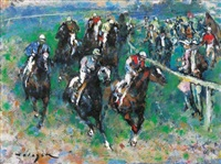 at the epsom derby by denes de holesch