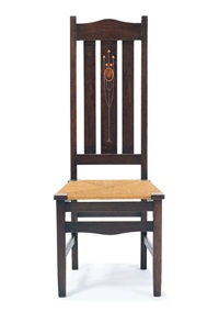 rare inlaid side chair by harvey ellis