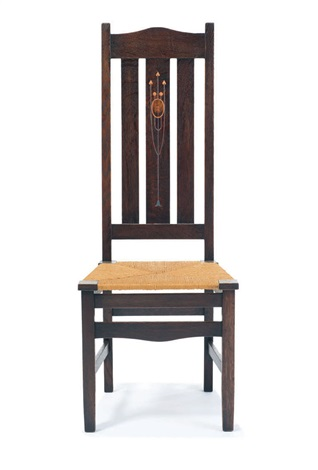 rare inlaid side chair by harvey ellis  sc 1 st  Artnet & Rare Inlaid side chair by Harvey Ellis on artnet