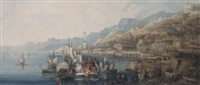 view of genoa, italy by lady sophia dunbar