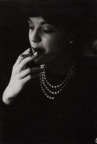 romy schneider smoking (2 works) by jesper hom