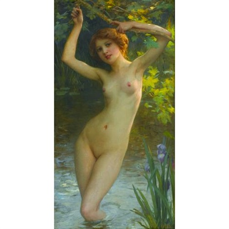 a morning swim by charles amable lenoir