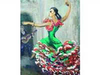 la danseuse de flamenco by france leplat