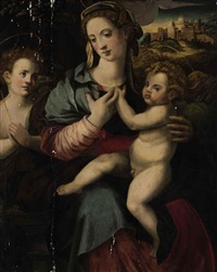 the madonna and child with the young saint john the baptist by francesco del brina