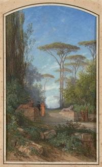 la promenade de l'évêque by auguste paul charles anastasi