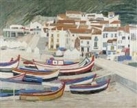 barques de pêche, nazaré, portugal by ginette rapp