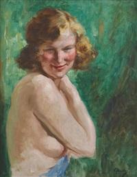 jeune femme nue de profil by victor abeloos
