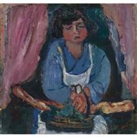 la servante en bleu by chaïm soutine