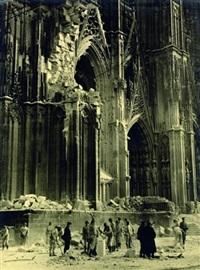 kölner dom (bombentreffer am nordturm des doms 5.11.1943) by peter fischer