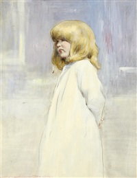 going to bed (+ book entitled children of the world by the artist) by mortimer luddington menpes
