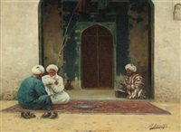 before the mosque by richard karlovich zommer