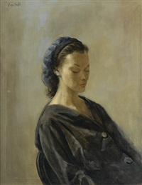 untitled (portrait of a lady) by hughie lee-smith