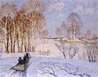 traîn eau dans la neige by n. jirnov
