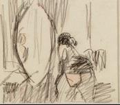 femme devant un miroir by rik wouters