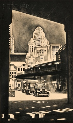 hanover square by louis lozowick