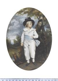 the artist's grandson, john charles spencer (1782-1845) (after sir joshua reynolds) by margaret, lady bingham