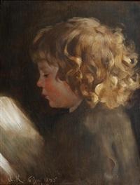portrait study of a child by arthur kampf